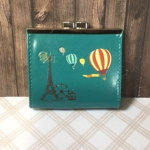 NWT Kiss Lock Coin Purse - Paris Hot Air Balloons